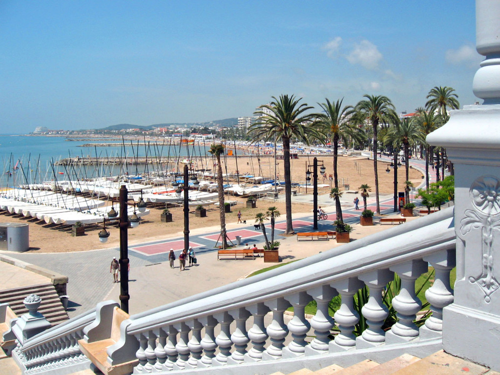 De stadsstranden van Sitges