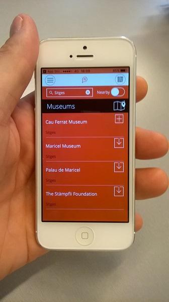 afbeelding museum app voor toeristen