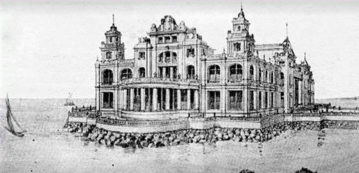 Een van de ontwerpen voor het casino.