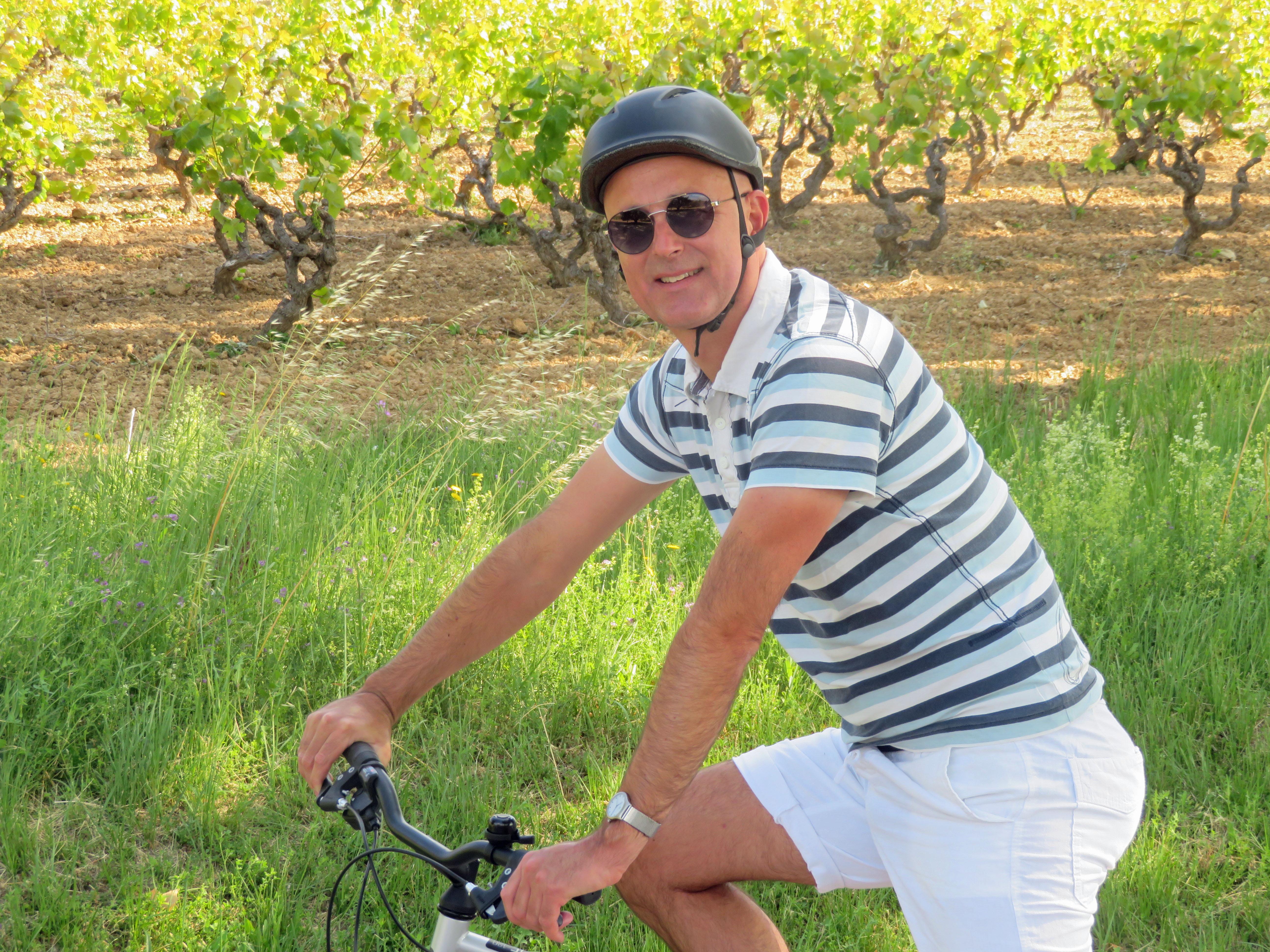 fietser in de Penedes